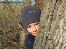 Play hide-and-seek Royalty Free Stock Images