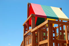 Play House. A child's treehouse.  A child's playhouse Royalty Free Stock Photography