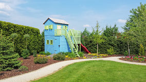 Play house in the garden Stock Image