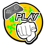 Play icon. Creative design of play icon Royalty Free Stock Photos