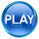 Play icon blue Stock Image