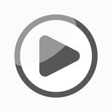 Play Icon / Button. Play icon, video media player Royalty Free Stock Images