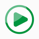 Play Icon / Button. Play icon, video media player Royalty Free Stock Photo