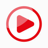 Play Icon / Button. Play icon, video media player Royalty Free Stock Image