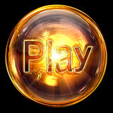 Play icon glass. Stock Photography