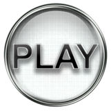 Play icon grey Royalty Free Stock Images