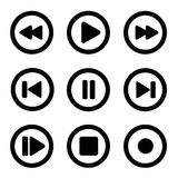 Play icon set1 Stock Image
