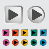 Play icon Stock Image