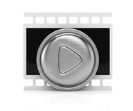 Play icon. On white background. 3d render Stock Photo