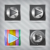 Play icons Royalty Free Stock Image
