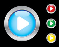 Play icons. Smart play button icons. Please check out my icons gallery Stock Image