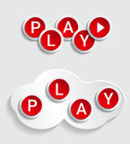 Play icons Stock Image