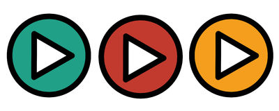 Play icons. Vector buttons Royalty Free Stock Photo