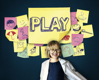 Play Joyful Enjoyment Playful Imagination Dreams Concept Stock Image