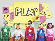 Play Joyful Enjoyment Playful Imagination Dreams Concept Stock Photo