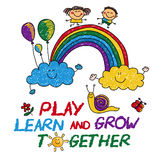 Play Learn and grow together Stock Photo