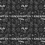 Play Learn and grow together Image on blackboard. Play Learn and grow together Hand drawn vector image Royalty Free Stock Image