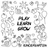 Play Learn and grow together Vector image Stock Photography