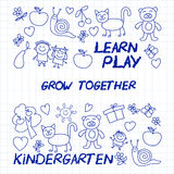 Play Learn and grow together Vector image Royalty Free Stock Image