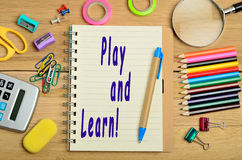 Play and learn! Stock Photo
