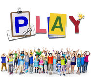 Play Leisure Activity Recreation Entertainment Playing Concept Stock Photo
