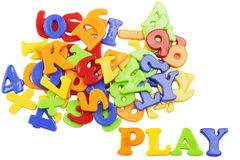 PLAY lettering Stock Photography