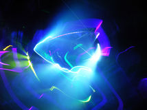 Play with Light. In club atmosphere Royalty Free Stock Photography