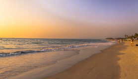 Play of light at kolava beach in goa, India Royalty Free Stock Photo
