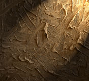 The play of light and shade. Texture of oil paint  with spotlight shining on it Stock Images