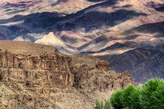 Play of light and shadow, Ladakh mountains , India Stock Image