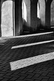 The play of light and shadow in pilgrim´s church Zelena Hora, Czech republic Royalty Free Stock Photography