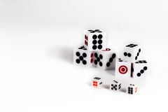 Play love games with exotics sex dice. Dice sex game. Play love games with exotics sex dice stock photo