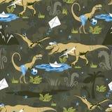 Play Lover Dinosaur Seamless pattern for kids fashion. Childish Background with Cute Dinosaurs. Cartoon Animal vector illustration vector illustration