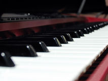 Play with me. Electronic keyboard keys stock photography