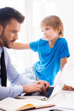 Play with me daddy! Stock Photography
