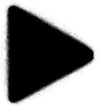 Play media graffiti spray icon in black over white Stock Image