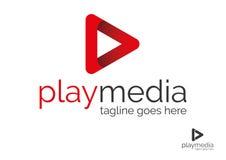 Play Media Logo. Play media vector logo template design Royalty Free Stock Photography