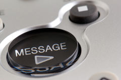 Play Message Button Royalty Free Stock Image