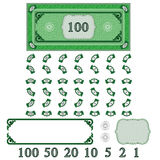 Play money (make your money set) Royalty Free Stock Photography