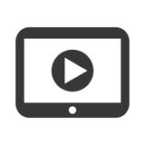 play movie button flat icon Stock Image