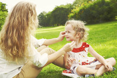 Play with mum a Royalty Free Stock Photography
