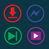 Play music, downloading, icon, Royalty Free Stock Photo