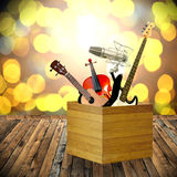 Play music in holiday. Concept Stock Photography