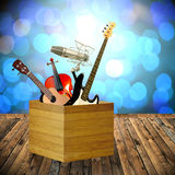 Play music in holiday Royalty Free Stock Photo