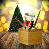 Play music in holiday concept. Christmas day Stock Photography