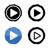 Play music icons. Vector buttons white and black Stock Photography