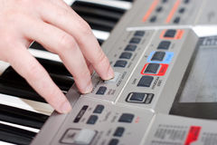 Play music keyboard Stock Image