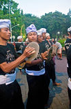 Play music Preparing for Balinese New year Royalty Free Stock Photos