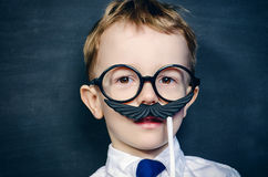 Play with mustache Royalty Free Stock Images