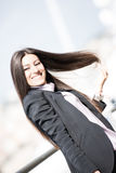 Play with my long hair Stock Photo